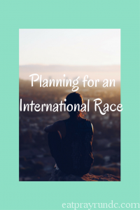 Planning to Run an International Race