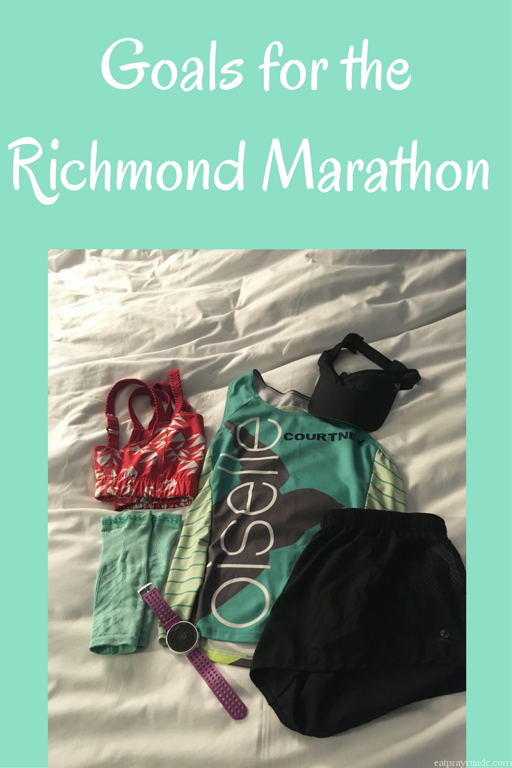 Goals for the Richmond Marathon