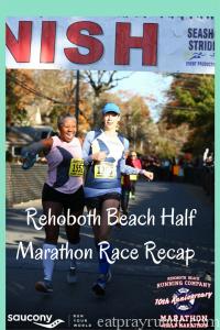 Rehoboth Beach Half Marathon Race Recap