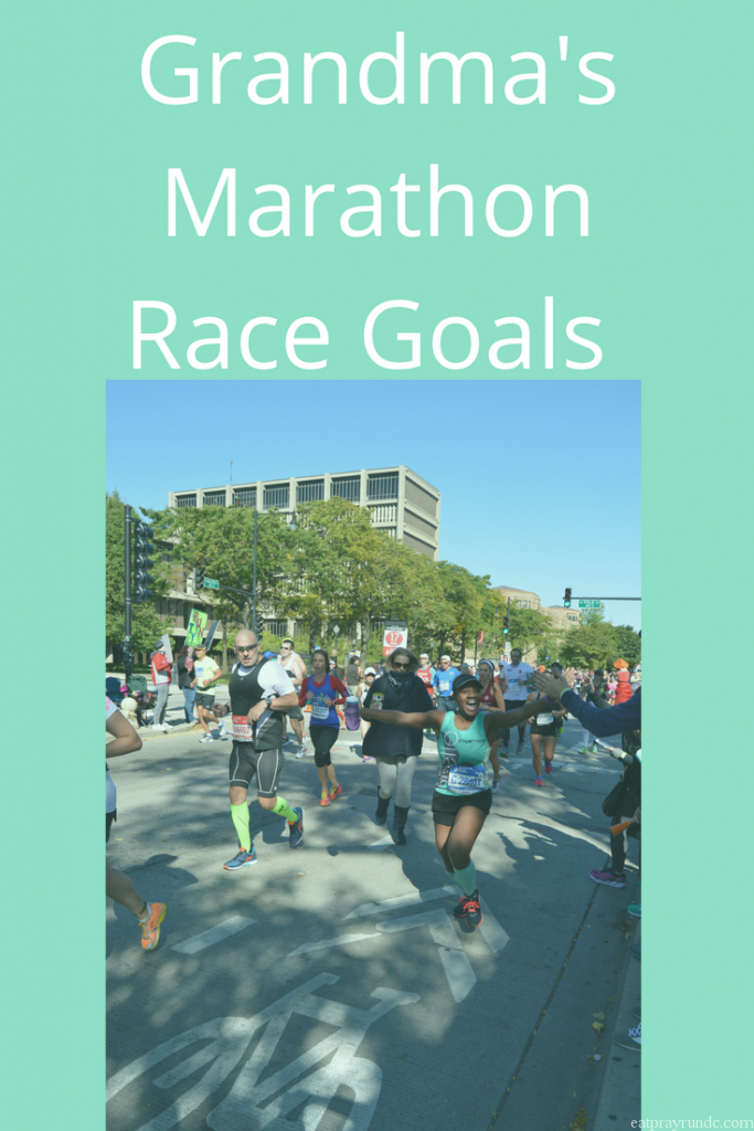 Race Goals for Grandma's Marathon