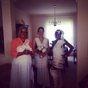 pretty toilet paper brides
