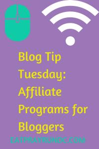 Affiliate Programs for Bloggers via Eat Pray Run DC