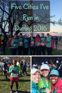 Five Cities I've Run in During 2016