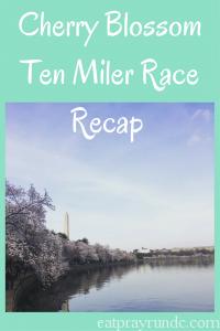 Cherry Blossom Ten Miler Race Recap