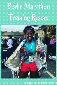 Berlin Marathon Training Recap