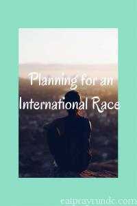 Planning for an International Race