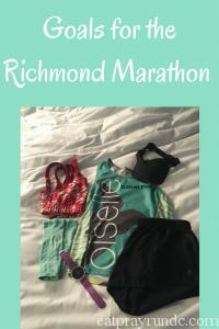 Goals for the Richmond Marathon