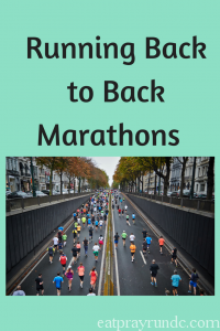 Running back to back marathons