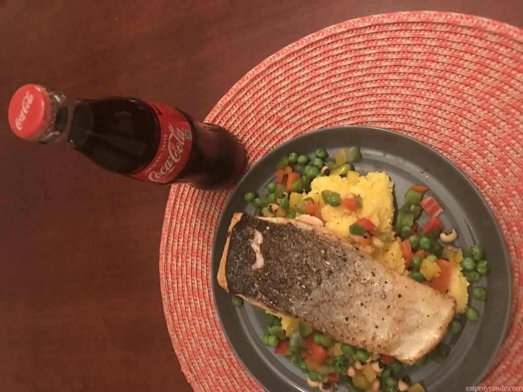 two pea succotash and trout